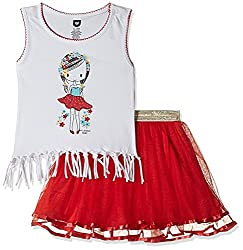 612 League Baby Girls Clothing Set (ILS17I75004-12 - 18 Months-RED)
