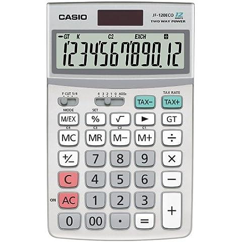 Casio JF12ECO - Calculadora de sobremesa de 12 dígitos