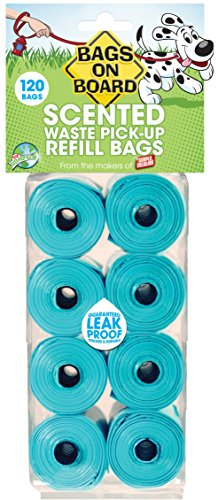 Bags On Board Scented Refill Pack 8 Rolls 120bag - Gift Bag Dog