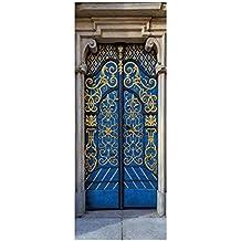Etiqueta engomada de la puerta creativa musulmán 3D volver a la antigua puerta Estilo árabe personalizado
