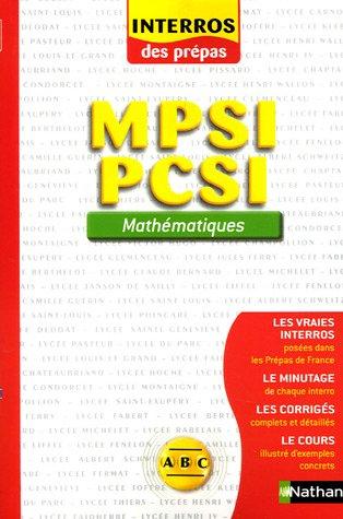 MPSI PCSI : Mathématiques