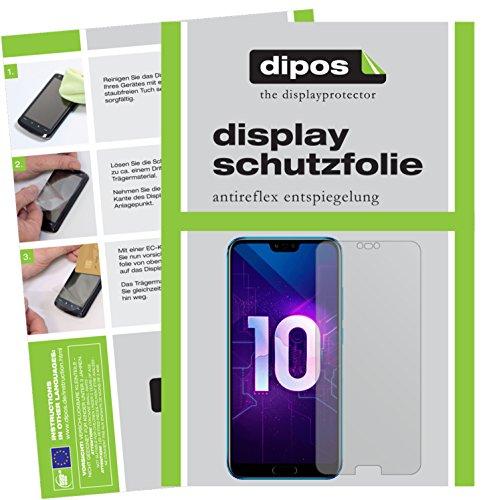 dipos I 6X Schutzfolie matt passend für Huawei Honor 10 Folie Bildschirmschutzfolie (3X Vorder- und 3X Rückseite)