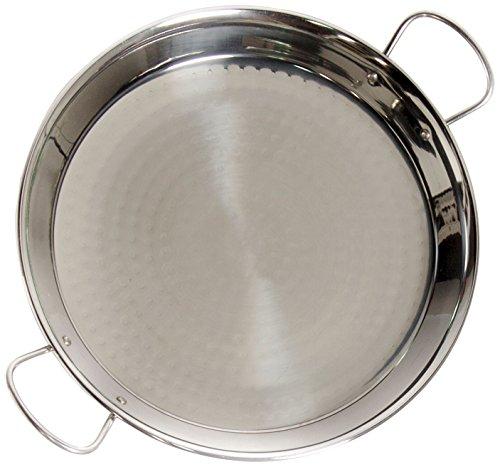 La Valenciana 36 cm Acero Pulido para Cocina de inducción Paella de cerámica con Asas, Negro, 36.0...