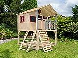 Scheffer Outdoor-Toys Stelzenhaus mit Kletterwand und Sandkasten Tobi4you. Kinderspielhaus, Rutsche wählen:ohne Rutsche, Sicherheit wählen:ohne Bodenanker
