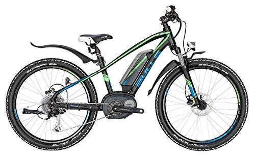 Bulls Jugend E-Mountainbike Modell 2016 Twenty4 E - Elektrofahrrad, E-Bike - 24 Zoll, 400Wh, Lithium-Ionen-Akku, schwarz-matt-grün