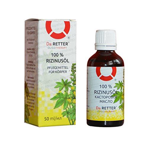 Rizinusöl 100% naturreines und reines Castor Oil 50ml ( касторовое масло) besten Körperöl, Intensive Pflege Anti-Falten Anti-Aging