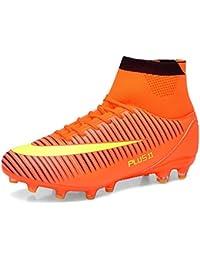 BOLOG para adultos adolescentes hombre FG Botas de fútbol Spike zapatos de fútbol Botas de fútbol de gran parte superior