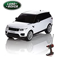 Price comparsion for CMJ RC Cars Range Rover Sport Remote Control Car with Working Lights - Electric Radio Control Range Rover Sport RC Car, Official Licensed Range Rover 1:14 Toy Car in White 2.4GHz Race 2 Cars Together!