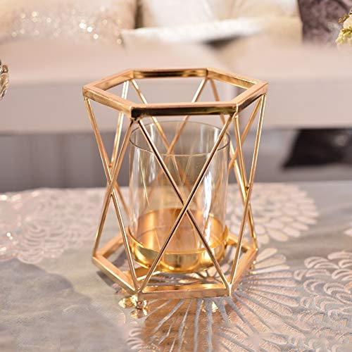 Li-lamp Metall kerzenhalter Kreative Hause licht Luxus Metall Glas kerzenständer Dekoration modernen Wohnzimmer esszimmer Weichen Dekorationen