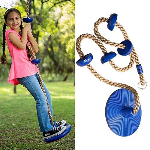 yyqxhly Kletterseil Schaukelsitz mit Plattform und Scheibe Fitness Schaukel Anzug Zubehör Kinderschaukelsitz Spielzeug,Green