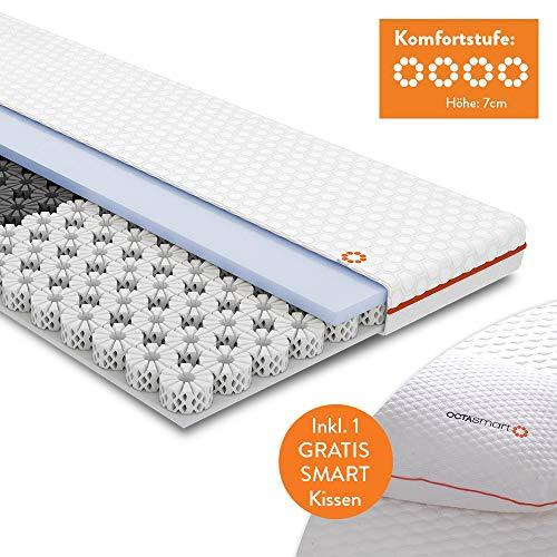OCTASLEEP Smart Topper Matratzentopper 90x200cm mit Smart Pillow Kissen - Schlafkissen | patentierte Octaspring Technologie | atmungsaktiv | 3 Smart-Zonen | Das Original von Mediashop