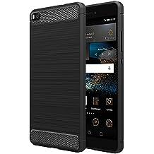 Funda Huawei P8, Simpeak Huawei P8 Funda Gel Silicona Huawei P8 Premium Carcasa Huawei P8 case TPU(5,2 Pulgadas),Negro