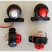 4piezas 24V blanco LED rojo trasera Side Marker luces Camión Remolque Caravana SUV Bus Van