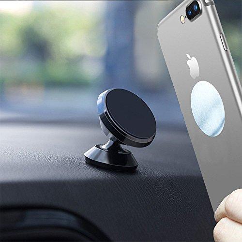 SUPRBIRD Supporto Auto Smartphone Magnetico Supporto Auto 360° Girevole per Cruscotto Dashboard, Porta Cellulare da Auto per iPhone, Samsung, ed Altri Smartphone Lumia LG Huawei Motorola Xiaomi