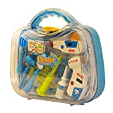 #6: ToysCentral Doctor Set for Kids, 12 pcs Pretend Play Doctor Doctor Game with Medical Instruments in a Durable Carry Case