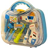 ToysCentral Doctor Set Pretend Play Toy For Kids, 12 Pcs Kit Including Stethoscope And Other Medical Equipments In A Durable Carry Case