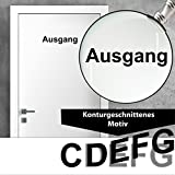 """Ausgang"" Türtattoo / Türaufkleber / Türschild | Freigestelltes Motiv!!! |-- 200mm --| NEU!!! Sonderpreis!!!"