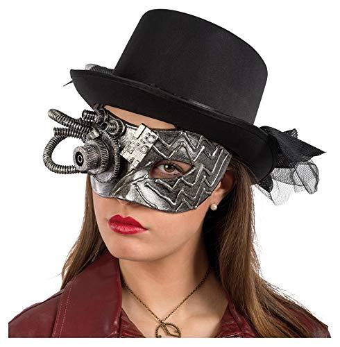 Carnival Toys máscara Steampunk Plata De plástico rígido en Bolsa con Caballo 846,, 8004761006785