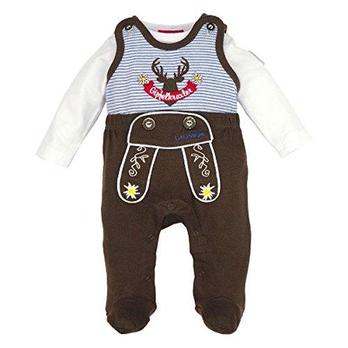 BONDI Strampler ´Gipfelkraxler´, braun 68 Tracht Baby Jungs Artikel-Nr.91008