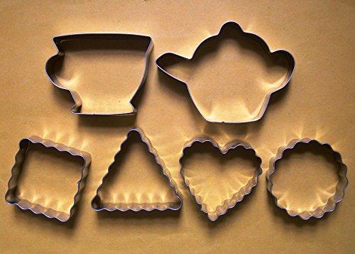 Lawman Teekanne Teetasse Classic Kekse Fondant Teig Cookie Cutter 6Stück Set -