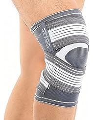 Orthokraft Kniebandage, für Damen und Herren, rechts und links anwendbar, die fixierbare atmungsaktive Kniebandage sorgt für Stabilität und lindert Schmerzen beim Sport bei Verletzung des Meniskus oder Kreuzband und weiteren Gelenkbeschwerden, Ideal beim Joggen und Laufen