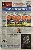 FIGARO (LE) [No 20472] du 28/05/2010 - RETRAITES / LA FAIBLE MOBILISATION OUVRE LA VOIE A LA REFORME -LA DISPARITION ANNONCEE DU BILLET DE 500 EUROS -OBAMA FACE A LA PLUS GRANDE MAREE NOIRE DE L'HISTOIRE AMERICAINE -LE VRAI-FAUX CACHOT DU PALAIS-BOURBON -SARKOZY REND HOMMAGE AUX PROTESTANTS FRANCAIS -JAMAIQUE / LE CAID DE LA DROGUE S'EST VOLATILISE -ELECTIONS / LES TCHEQUES LASSES DE LEURS POLITICIENS -COMMENT LIRE LE FIGARO SUR L'IPAD