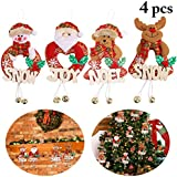 Outgeek 4PCS Christmas Hanging Ornament Creative Christmas Decoration Hanging Decoration