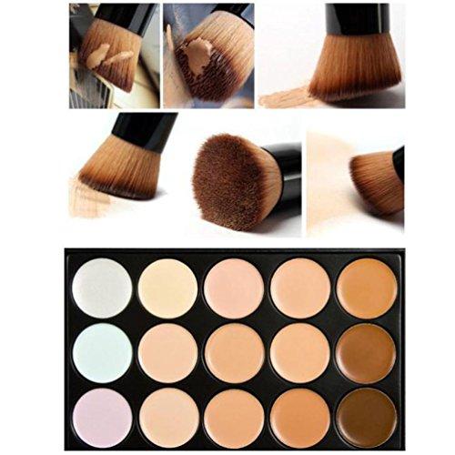 15 Couleurs Maquillage Concealer Palette Contour Loiitas +Bouffée D'éponge D'eau+Pinceau De Maquillage