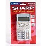 Sharp EL531WB-WH Wissenschaftlicher Taschenrechner