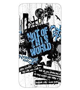 ColourCraft Typography Design Back Case Cover for MICROMAX CANVAS XPRESS 2 E313