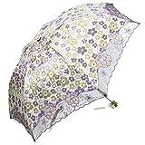 kilofly–Juego de rayos UV plegable sombrilla paraguas con espumillón bordado, UPF 40+