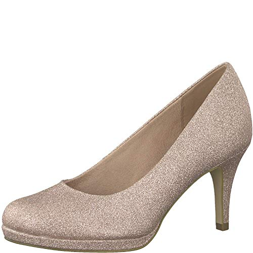 Tamaris Damen KlassischePumps 1-1-22464-32, Frauen Court-Shoes,Absatzschuhe,Abendschuhe,Stöckelschuhe,Touch-IT,Rose Glam,37 EU - Glam-abend-kleid