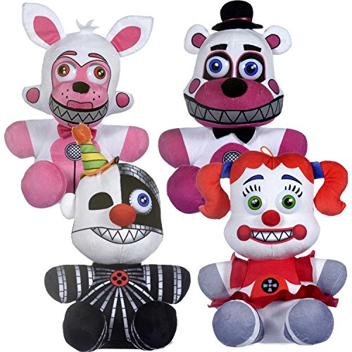 FIVE NIGHTS AT FREDDY'S Plush- FNAF Peluche (4er Set Sister Location)