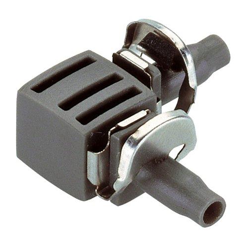Gardena 838129 Jonction en L pour tuyau, Noir, 4,6 mm