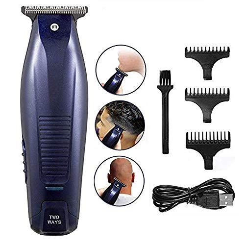 KAYBOO Bartschneider Elektrische Haarschneidemaschine Haarschneider Bart Trimmer Herren für Männer und Kinder Haartrimmer Herren mit 3 Führungskämmen, 2 Modi USB Port (1)