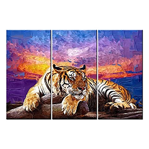 Canvas Print Wall Art Pictures For Home Decor Tiger On