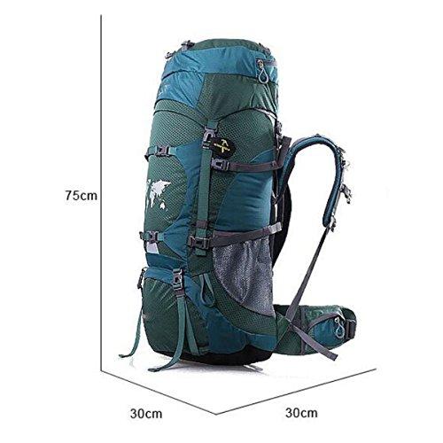 GAOLIXIA Im Freien Wasserdicht Nylon Männer Frauen Camping Klettern Wandern Reisen Wandern Professioneller Rucksack 70L B