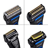 Kemei KM Men's Rechargeable Reciprocating Double Blade Electric Shaver Razor Groomer Wet and Dry Use (Multicolour)
