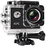Piqancy 4K Sport Action Camera, 2 Inch LCD Screen 16 MP Full HD 1080P 60fps Wi-Fi Remote Control with 170˚ Ultra Wide-Angle Lens, Including Full Accessories.