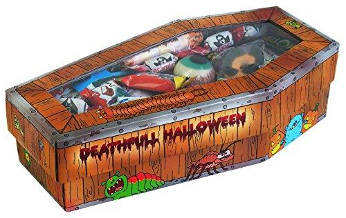 Halloween Party Sarg mit schaurigen Süßigkeiten, 1er Pack (1 x 300g) (Halloween Sarg Kostüme)