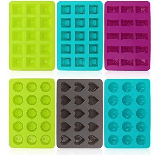 COM-FOUR® 6 moldes de silicona para bombones
