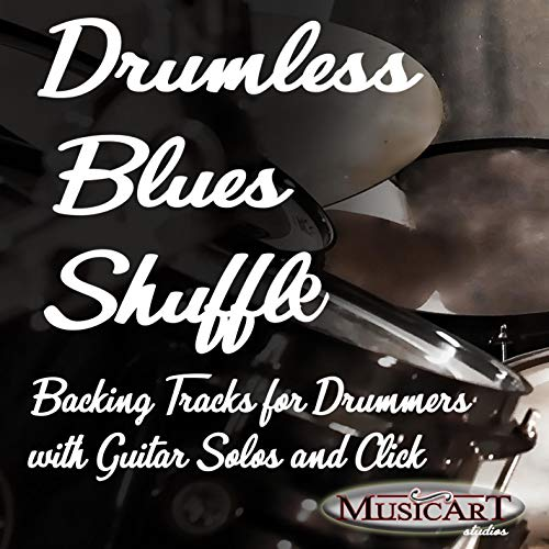 100 BPM Straight Shuffle Blues Backing Track wihtout Drums (w Guitar Solo)