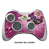 Xbox 360 Controller Designfolie Sticker - Vinyl Aufkleber Schutzfolie Skin für Xbox 360 Controller - Lavender Butterflies