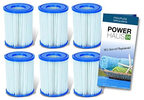Bestway Filter-Kartusche Nr. 58094 (6er Pack) - auch für Intex-Pumpen