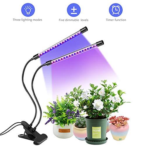 RegeMoudal Pflanzenlicht, LED Pflanzenlampe Wachstumslampe 18W Timing 360 Grad Einstellbar Pflanzenleuchte Grow Lamp mit 5 Helligkeit Modi 3 Veränderbare Lichtfarben Passend für Zimmerpflanze Blume