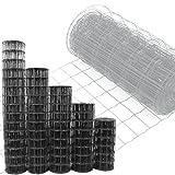 Gartenzaun Anthrazit - 10m Länge x 0,8 m Höhe + kostenloser Versand / Maschendraht Zaun Gitterzaun Maschung 10x7,5 cm Schweißgitter Wildzaun 10m x0,8m