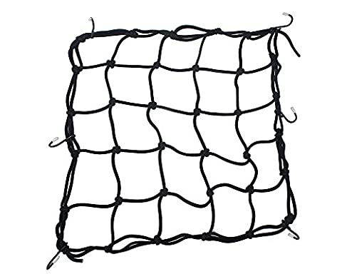 TankerStreet Heavy-duty Stretchy Cargo Net, Luggage Net Bags Organiser for Motorcycles Sporty Bike, ATVs, Cargo Bay Cars