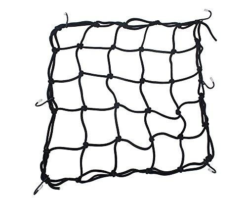 tankerstreet schwere dehnbar Cargo Net, Gepäck Net Organizer für Motorräder Sportives Bike, geländefahrzeugen, Cargo Bay Cars (schwarz) (Schwimmen Cargo)