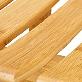 Relaxdays Hocker aus Bambus, elegan...