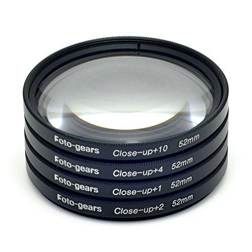 52mm Makro Filter Multi Close-up Linse Filter Makro Nahaufnahme Linse +1 + 2 +4 +10 Kit